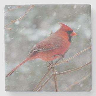 Red Cardinal Stone Coaster
