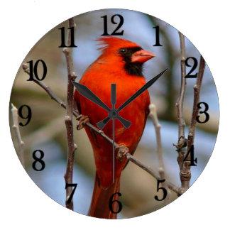 Red Cardinal Wall Clocks