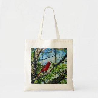 Red Cardinal  Wild Bird Photograph Tote Bag