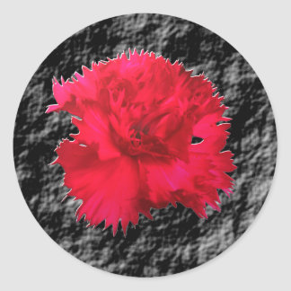 Red Carnation Floral Fantsay Sticker