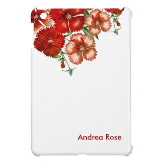Red Carnation Flower Case for iPad mini Case For The iPad Mini
