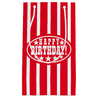 Red Carnival Birthday Small Gift Bag