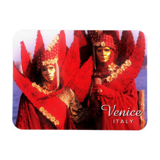 Red Carnival Costumes - Venice, Italy Magnet