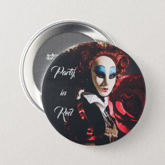 Red carnival mask in Venice, Italy 3 Inch Round Button