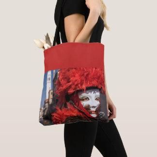 Red carnival mask in Venice, Italy Tote Bag