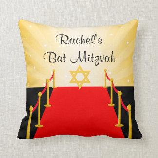 Red Carpet Hollywood Bat Mitzvah Throw Pillow
