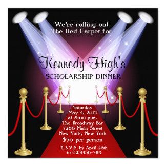 Red Carpet Hollywood Fundraiser Gala Invitation