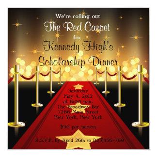 Red Carpet Hollywood Fundraiser Gala Invite