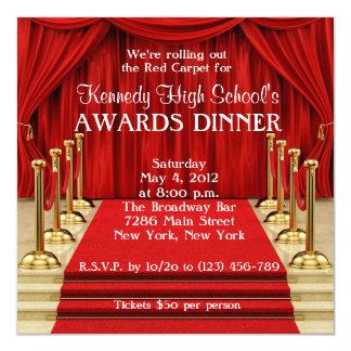 Red Carpet Hollywood Fundraiser Invitation