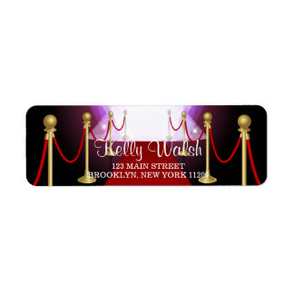 Red Carpet Hollywood Sweet 16 Envelope