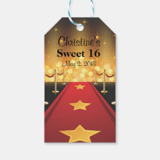 Red Carpet Hollywood Sweet 16 Favor   Gift Tags
