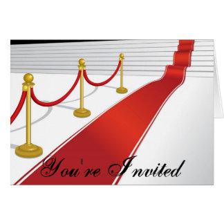 Red Carpet Invitation Card