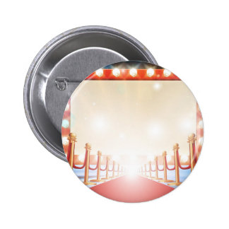 Red Carpet Light Bulb Sign 2 Inch Round Button