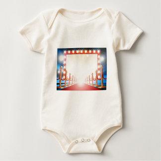 Red Carpet Light Bulb Sign Baby Bodysuit