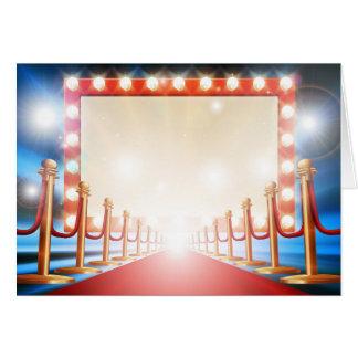 Red Carpet Light Bulb Sign Card