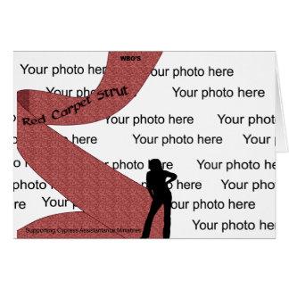 Red Carpet Photo Frame 2 Card