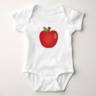 Red Cartoon Apple Baby Bodysuit