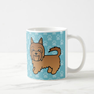 Red Cartoon Australian Terrier Coffee Mug