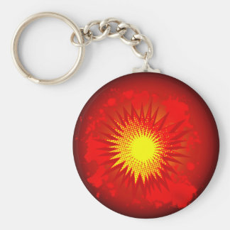 Red Cartoon Explosion Keychain