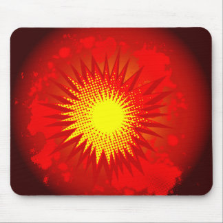 Red Cartoon Explosion Mouse Pad