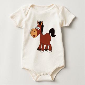 red cartoon horse baby bodysuit