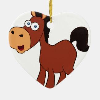 red cartoon horse ceramic ornament
