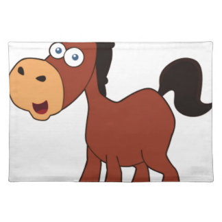 red cartoon horse placemat