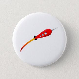 Red Cartoon Rocket 2 Inch Round Button