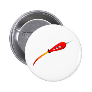 Red Cartoon Rocket 2 Inch Round Button