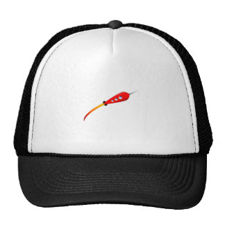 Red Cartoon Rocket Trucker Hat