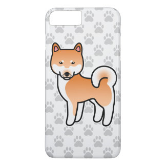 Red Cartoon Shiba Inu iPhone 8 Plus/7 Plus Case