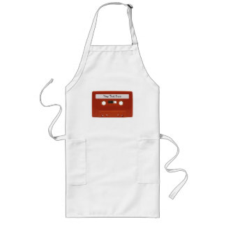 Red Cassette Tape Customizable Apron