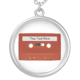 Red Cassette Tape Customizable Necklace