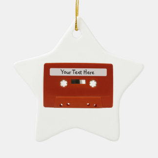 Red Cassette Tape Customizable Ornament