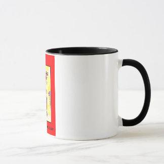 """RED CAT AND PURPLE TULIPS"" 11 oz. COFFEE MUG"