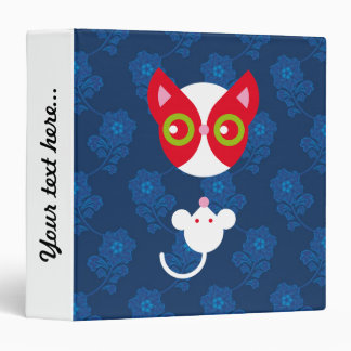 Red cat and white mouse vinyl binder