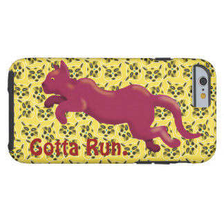 RED CAT GOTTA RUN by Slipperywindow Tough iPhone 6 Case