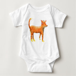 Red cat sings the blues baby bodysuit