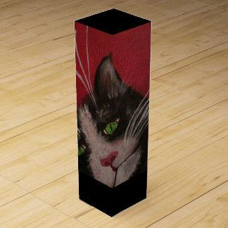 red cat wine box
