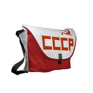 Red CCCP Hammer and Sickle Messenger Bags