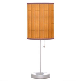 Red Cedar Wood Planks Table Lamp