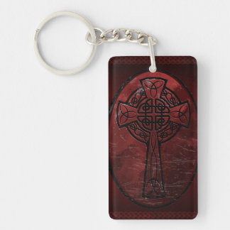 Red Celtic Cross Acrylic Keychains