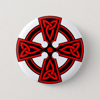 red celtic cross saxon viking wicca pagan 2 inch round button