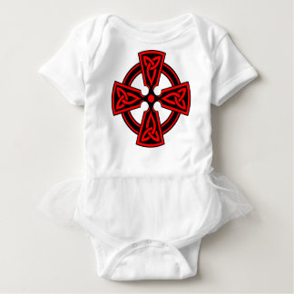 red celtic cross saxon viking wicca pagan baby bodysuit
