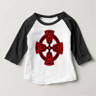 red celtic cross saxon viking wicca pagan baby T-Shirt