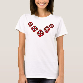 RED CELTIC CROSSES TEE SHIRT