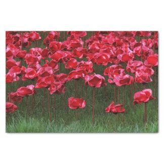 Red Ceramic Poppies Tissue Paper