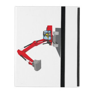 red chain excavator cases for iPad