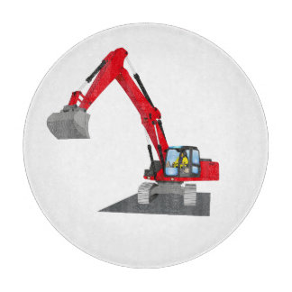 red chain excavator cutting board