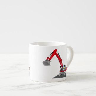 red chain excavator espresso cup